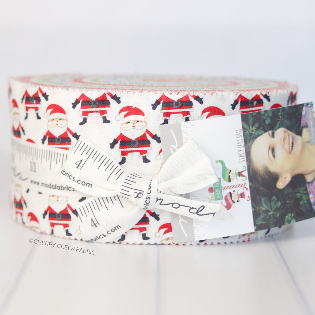 The North Pole Jelly Roll from The North Pole Collection at Cherry Creek Fabric