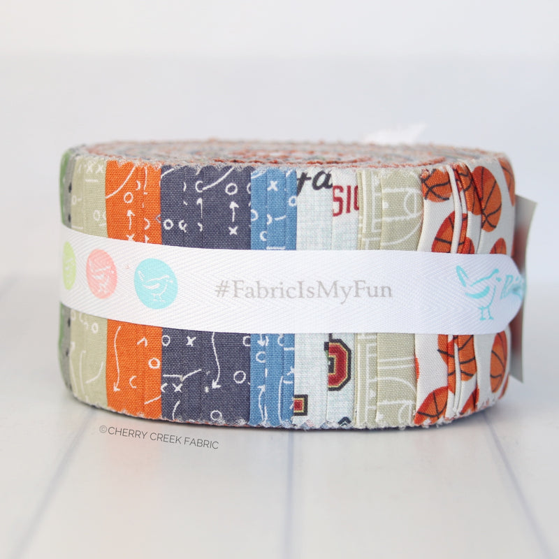 Varsity Basketball Jelly Roll from Varsity Collection at Cherry Creek Fabric