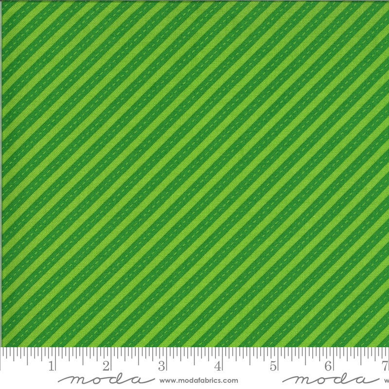 Green Bias Stripes Fabric | On the Go from On the Go Collection at Cherry Creek Fabric