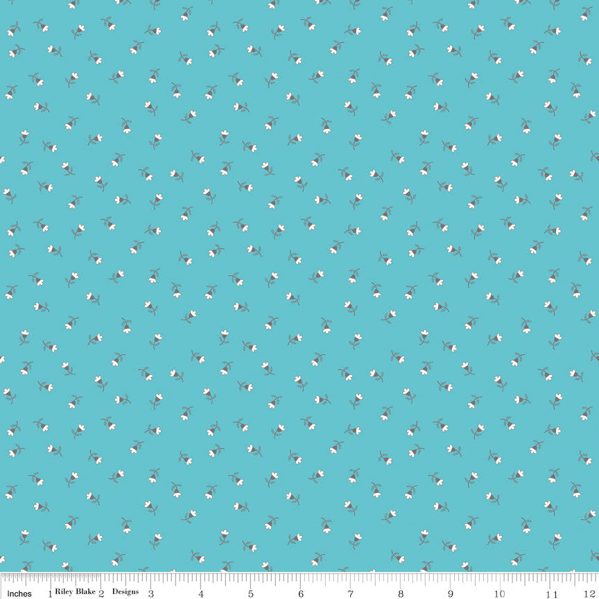 Blue Blossom Fabric from Autumn Love Collection at Cherry Creek Fabric