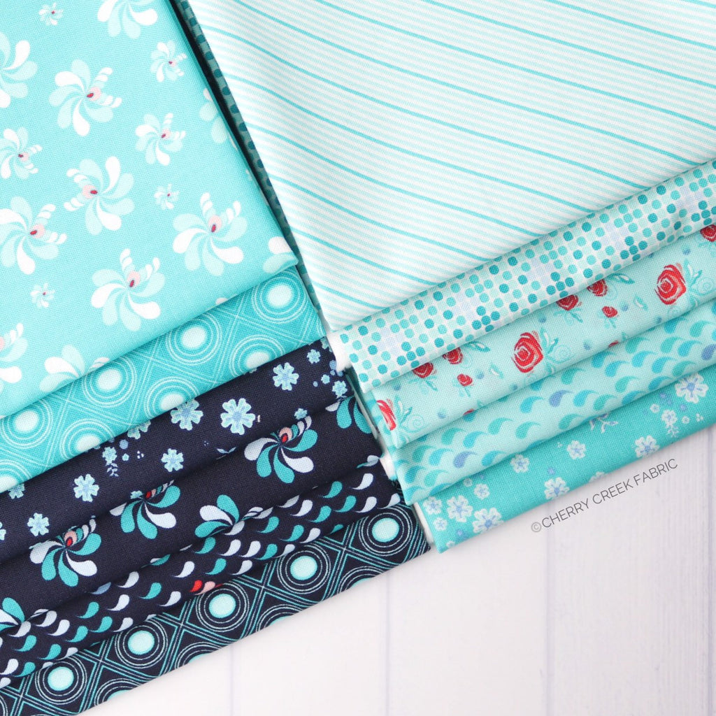Coledale Blue Half Yard Bundle - 11 pieces
