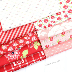 Shine On Red & Pink Fat Quarter Bundle - 9 pieces