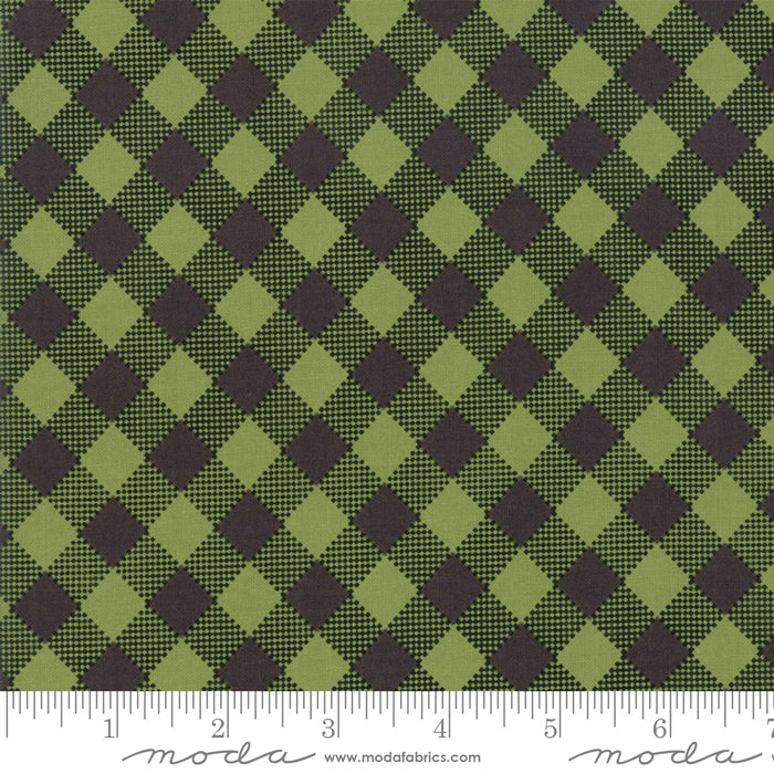 Merry Starts Here by Sweetwater | Black & Green Check Fabric