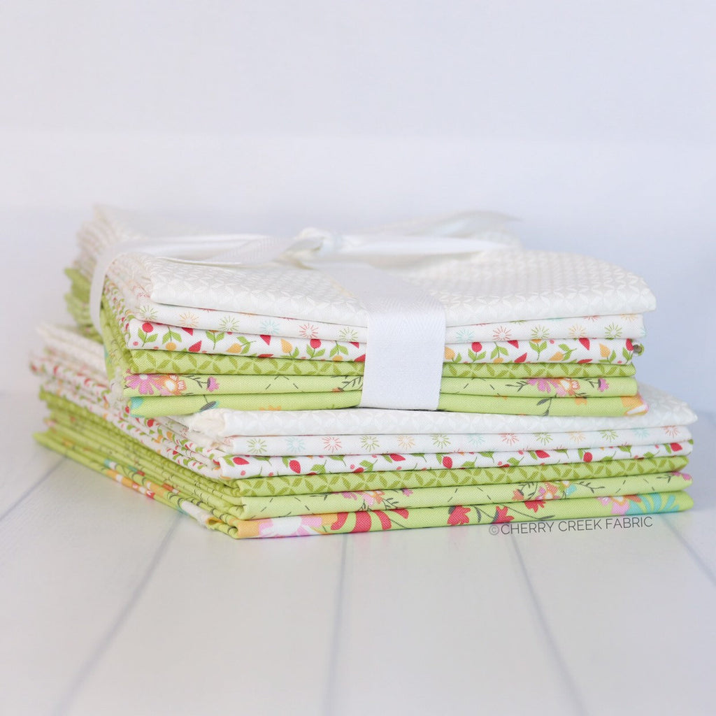 Sunnyside Up Green Half Yard Bundle - 6 pieces