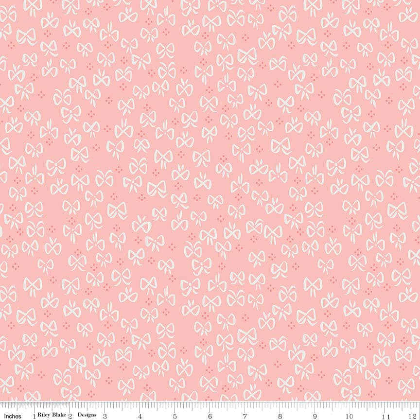 Pink Little Bows Fabric from Little Red in the Woods Collection at Cherry Creek Fabric