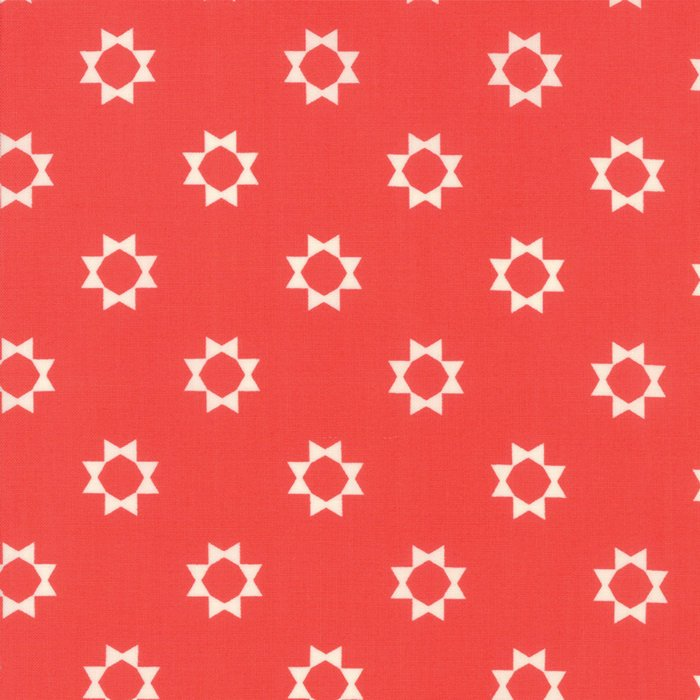 Red Sunshine Day Fabric