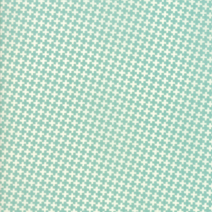 Aqua Mini Crisscross Fabric