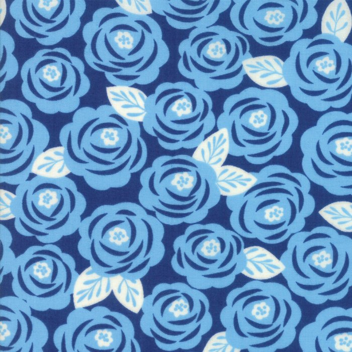 Blue Roses Fabric from Lazy Days Collection at Cherry Creek Fabric