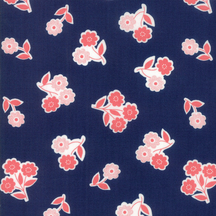 Navy Handpicked Bouquet Fabric from Garden Variety Collection at Cherry Creek Fabric