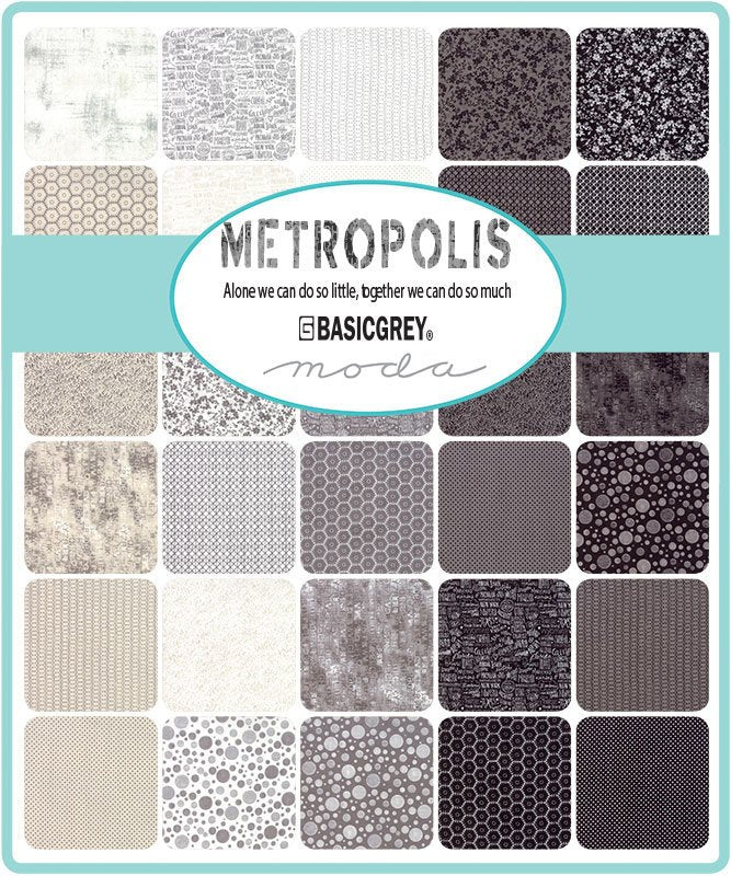 Metropolis by Basic Grey | END OF BOLT 3 yards - Natural Pasture Fabric