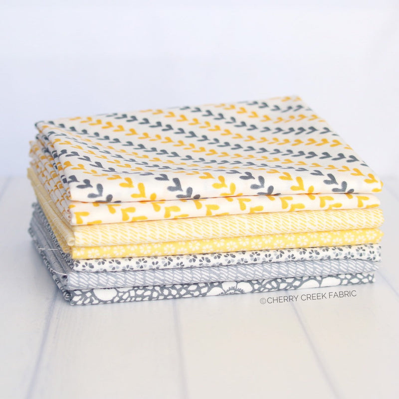 Harmony Yellow & Grey Fat Quarter Bundle from Harmony Collection at Cherry Creek Fabric