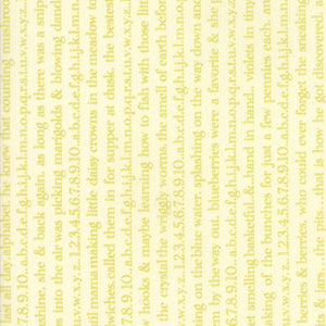 Light Green Floral Text Fabric from Ella & Ollie Collection at Cherry Creek Fabric