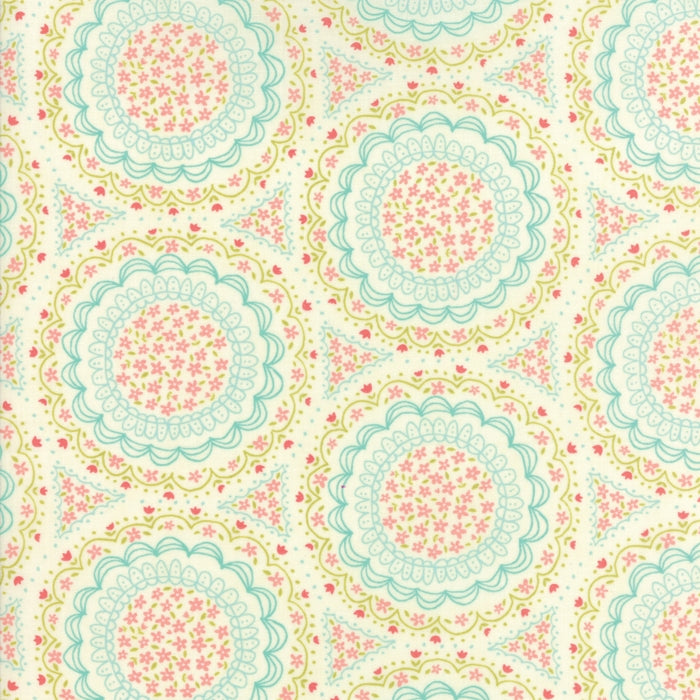 Cream Spinning Garden Fabric from Home Sweet Home Collection at Cherry Creek Fabric