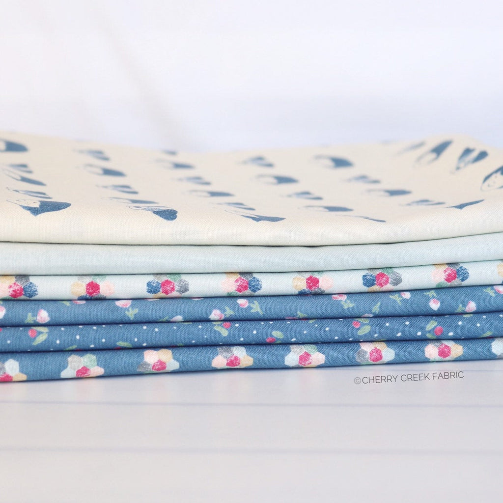 Freya & Friends Blue One Yard Bundle - 6 pieces