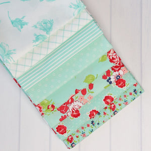 Smitten Aqua One Yard Fabric Bundle
