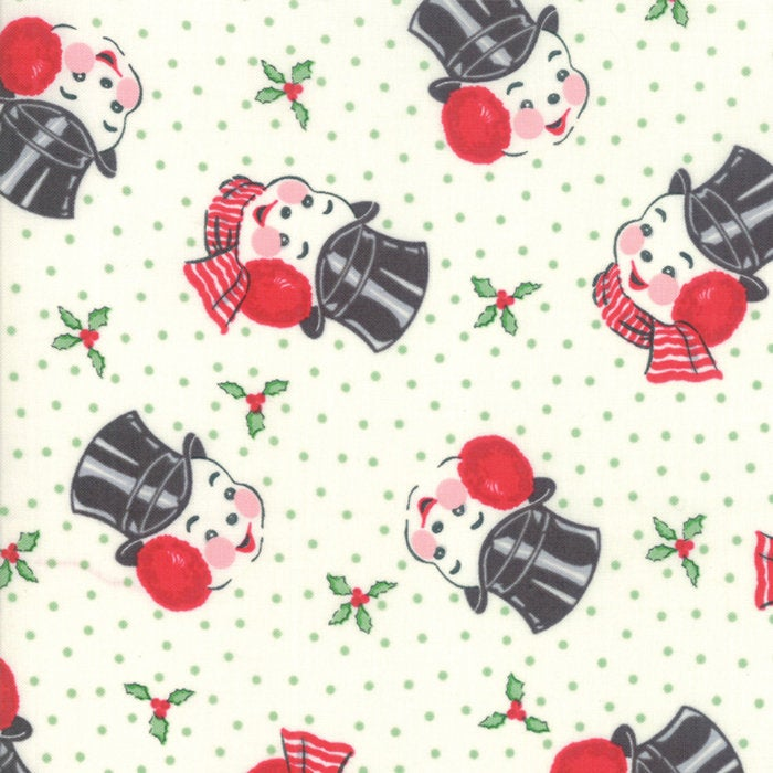 Sweet Christmas by Urban Chiks | Natural Snowman Fabric