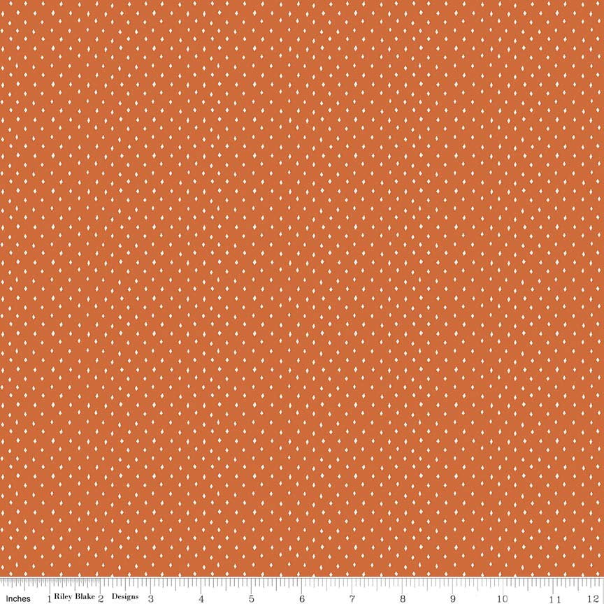 Orange Diamonds Fabric from Varsity Collection at Cherry Creek Fabric