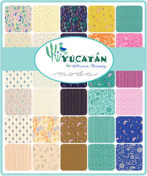 Yucatan Mini Charm Pack from Yucatan Collection at Cherry Creek Fabric