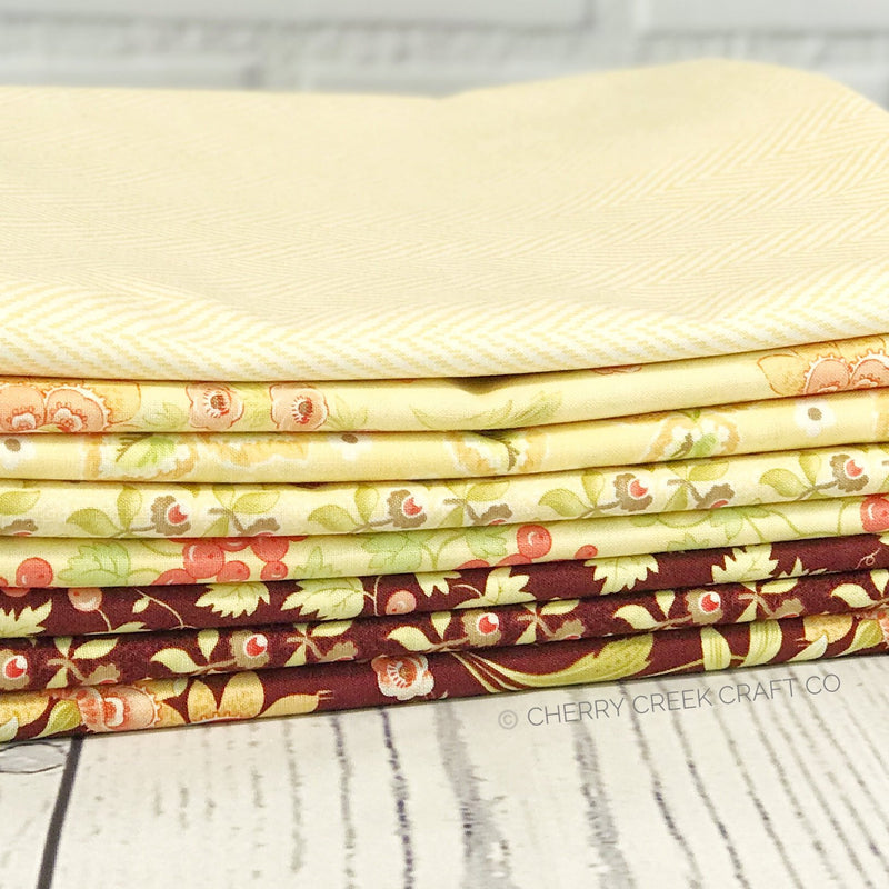 Hazel & Plum Yellow One Yard Bundle from Hazel & Plum Collection at Cherry Creek Fabric