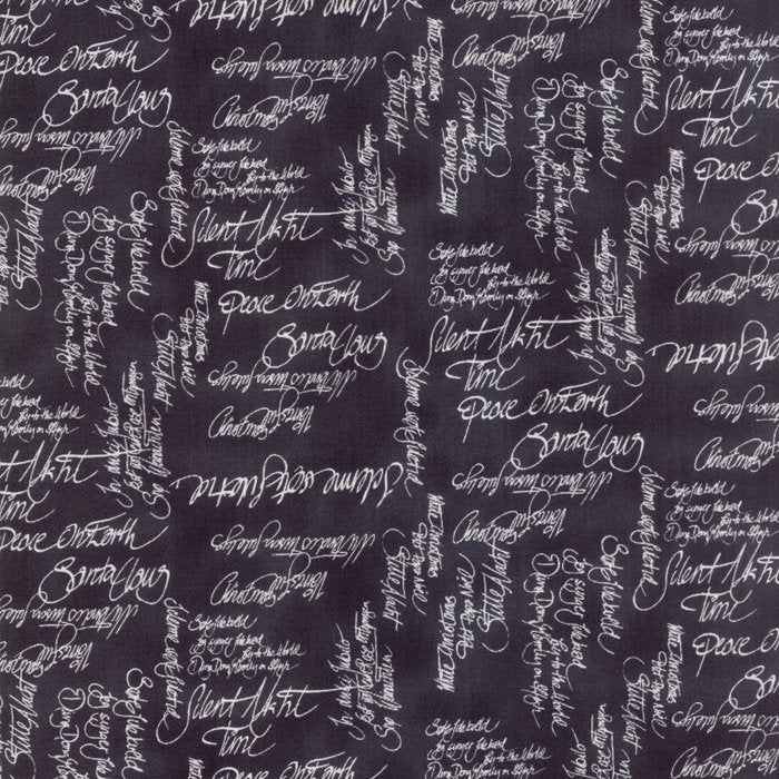 Black Carols Fabric from Sno Collection at Cherry Creek Fabric