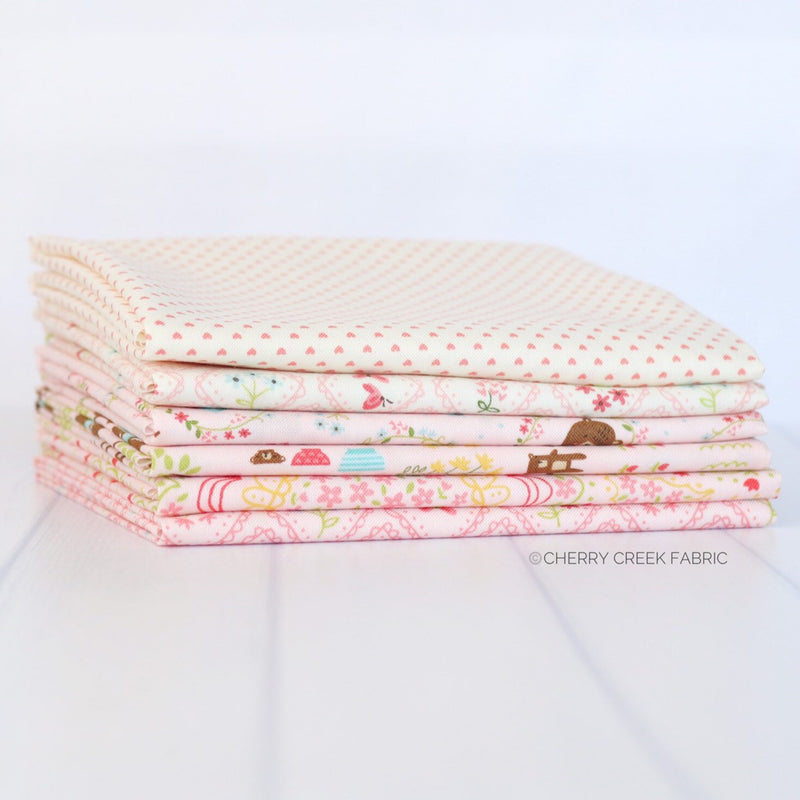 Home Sweet Home Pink Fat Quarter Bundle from Home Sweet Home Collection at Cherry Creek Fabric