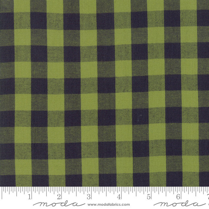 Green Check Woven Fabric