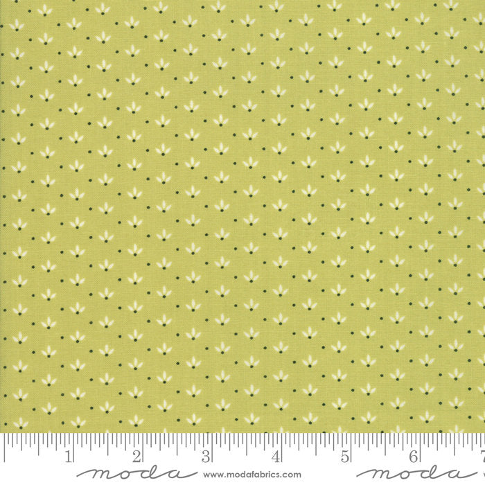 Green Dandelion Fabric from Farmhouse II Collection at Cherry Creek Fabric