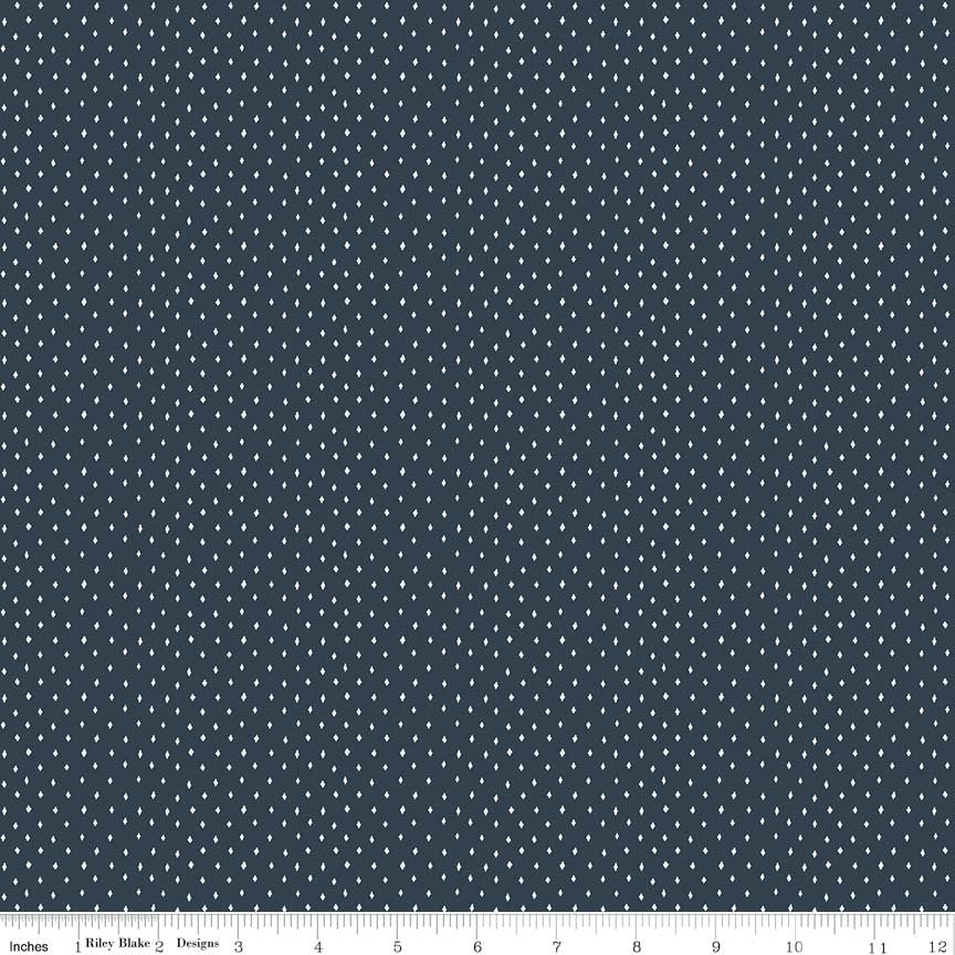 Navy Diamonds Fabric