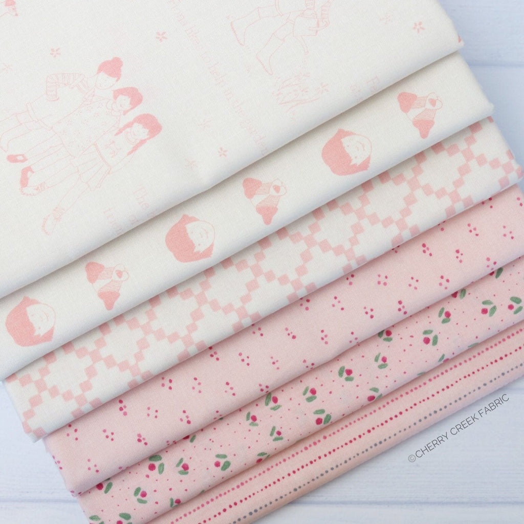 Freya & Friends Pink One Yard Bundle - 6 pieces