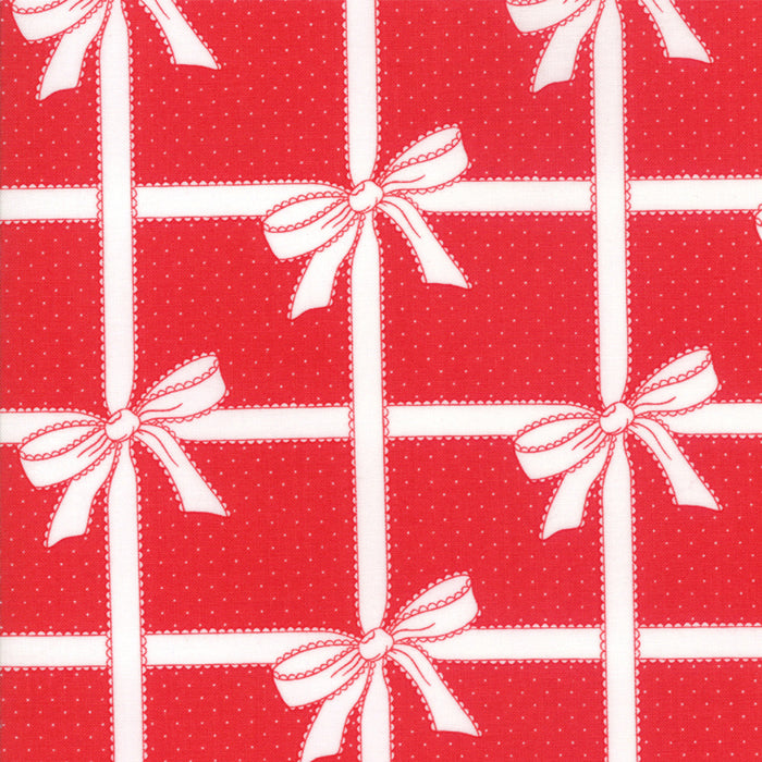 "Red Wrapped Up FabricEND OF BOLT 3 yds + 10"" from Vintage Holiday Collection at Cherry Creek Fabric"
