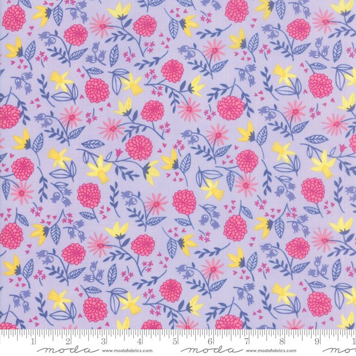 Lavendar Royal Garden Fabric from Once Upon a Time Collection at Cherry Creek Fabric