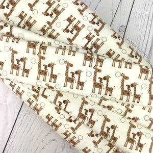 Flannel Fabric - Cream Giraffe Fabric from Riley Blake Flannel Collection at Cherry Creek Fabric