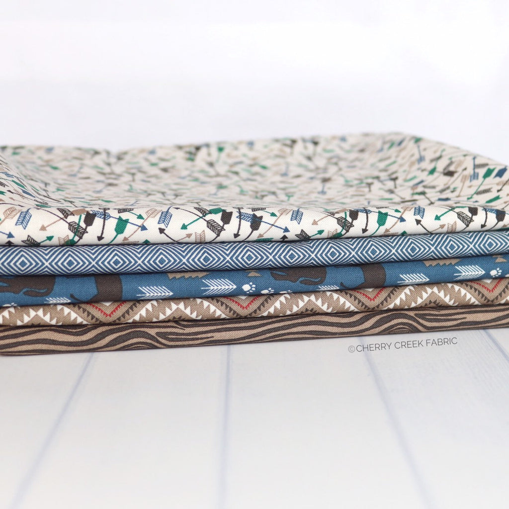 High Adventure 2 Brown & Blue One Yard Bundle