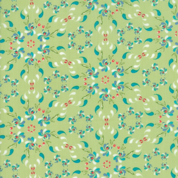 Green Floral Wreath Fabric