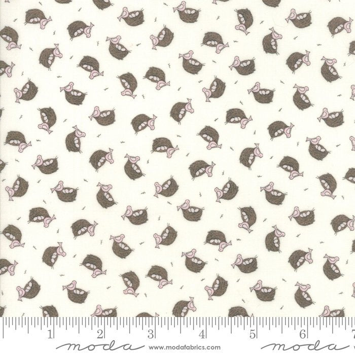 Cream Nest Fabric from Cottontail Cottage Collection at Cherry Creek Fabric