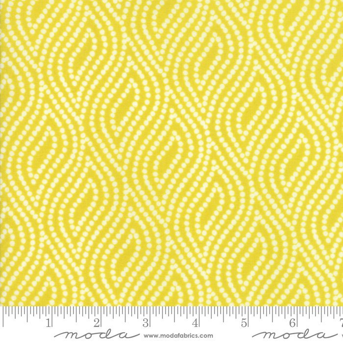 Yellow Dotted Floral Fabric from Lazy Days Collection at Cherry Creek Fabric