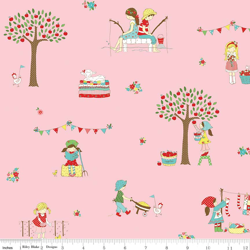 Pink Main Fabric from Simple Goodness Collection at Cherry Creek Fabric