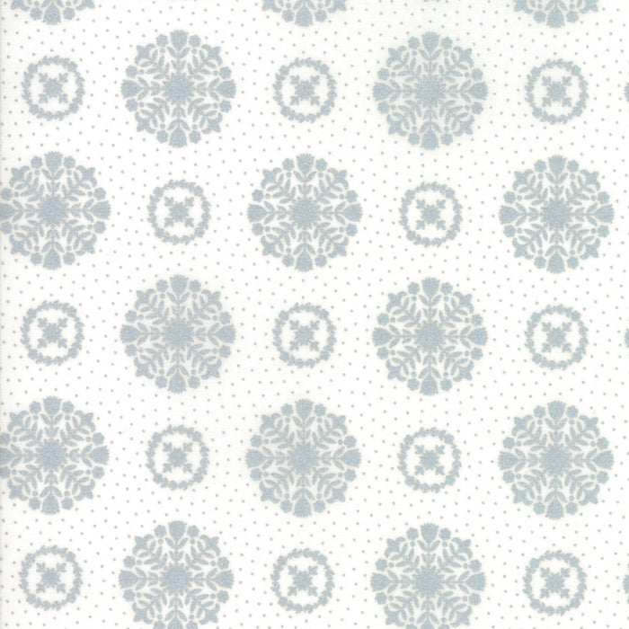 Metallic Silver Snowflakes Fabric from Vintage Holiday Collection at Cherry Creek Fabric