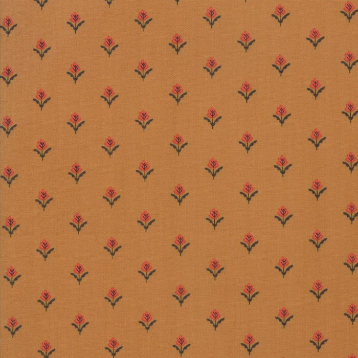 Gold Farmhouse Fleur Fabric - 1/2 yard from 101 Maple Hill Collection at Cherry Creek Fabric