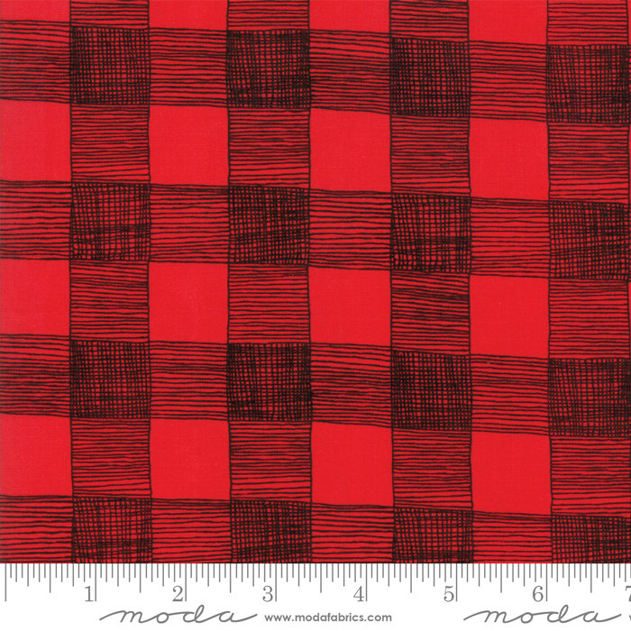 Red Rustic Gingham Fabric