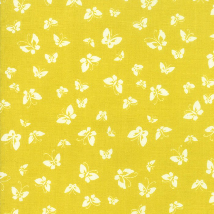 Yellow Butterflies Fabric
