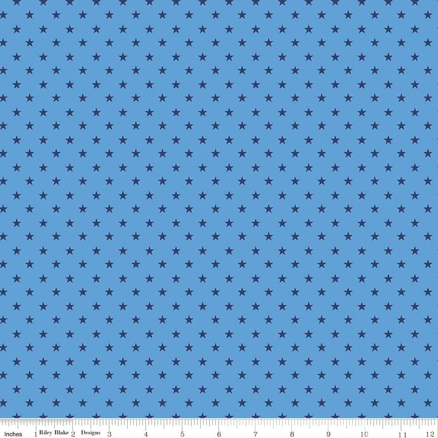 Blue Star Fabric from Harry & Alice Collection at Cherry Creek Fabric