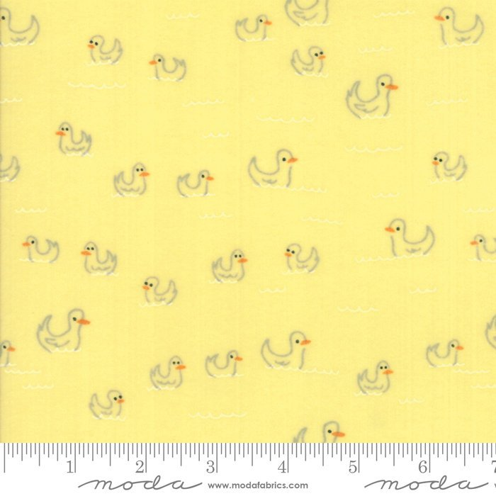 Yellow Duck Flannel Fabric from Soft & Sweet Flannel Collection at Cherry Creek Fabric