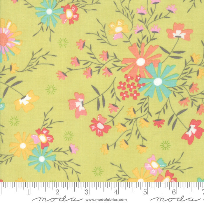 Green Sugar Creek Floral Fabric from Sunnyside Up Collection at Cherry Creek Fabric