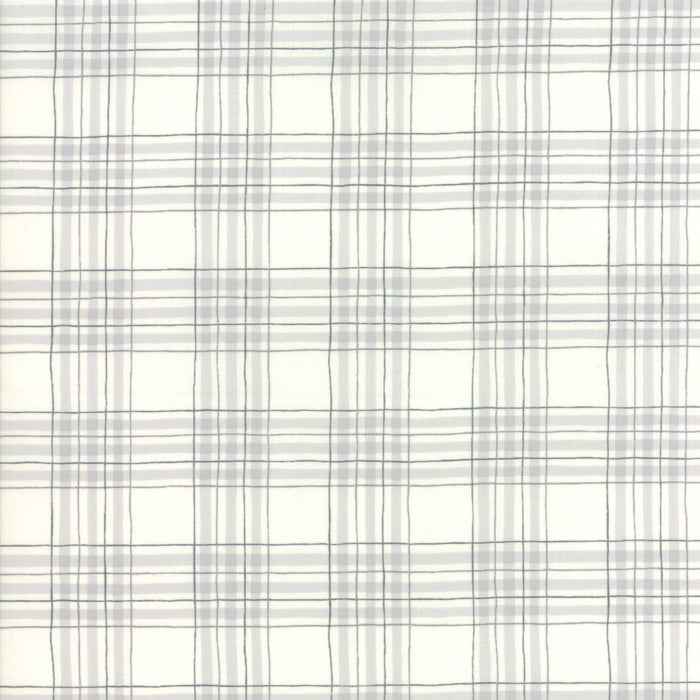 White Winter Plaid Fabric from Hearthside Holiday Collection at Cherry Creek Fabric