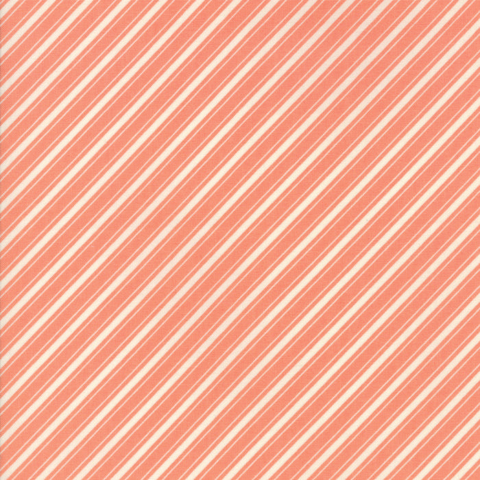 Peach Ticking Stripe Fabric</br>END OF BOLT </br>2 yds + 5""
