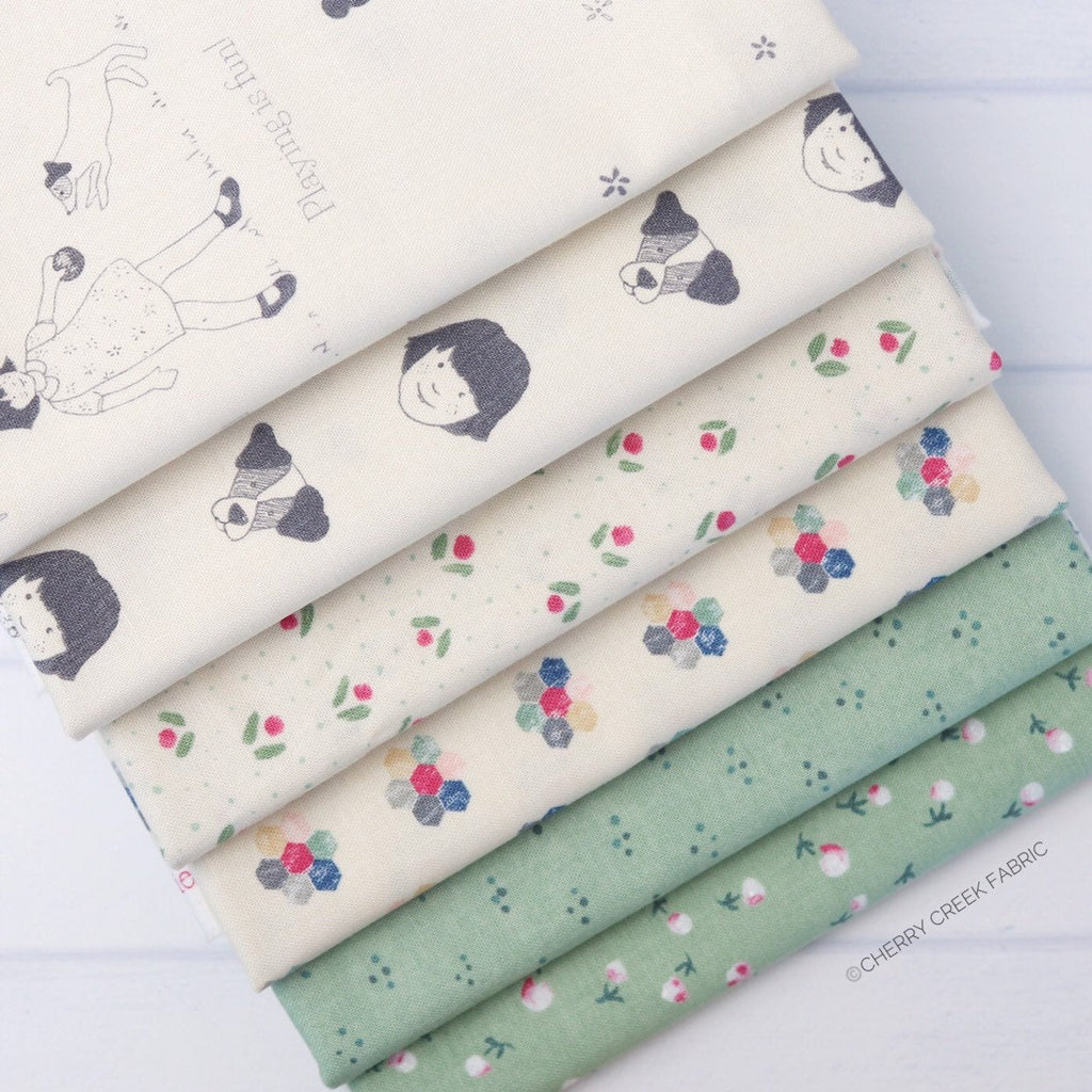 Freya & Friends Green Half Yard Bundle - 6 pieces