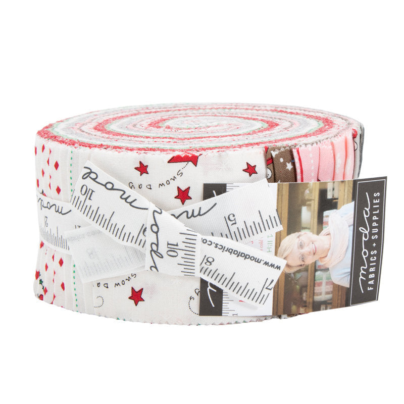 Merry Merry Sno Days Jelly Roll - Bunny Hill Designs - Moda Fabric - Fabric Bundle - Moda Jelly Roll - 42 pieces from Cherry Creek Fabric & Crafts Collection at Cherry Creek Fabric
