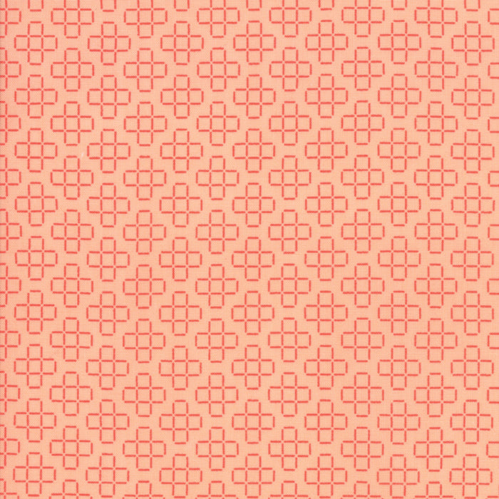 Peach Floral Lattice Fabric</br>END OF BOLT </br>3 yds + 6""