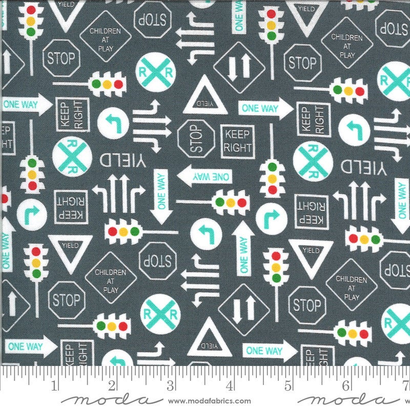 Dark Gray It's a Sign Fabric | On the Go